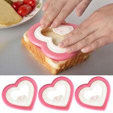 Sandwich Cake Biscuit Bento Toast Bread Maker Sushi DIY Mold Cutter Heart