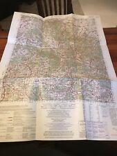 Vintage 1956 Military Aeronautical Map Of Eisennach Germany, 1:100,00 Scale