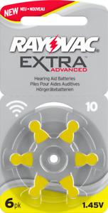 NEW Rayovac Extra Mercury Free Hearing Aid Batteries, Size 10 (Yellow)