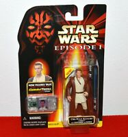Star Wars Episode 1 Obi-Wan Kenobi Naboo Action Figure w/ Chip Hasbro Sealed