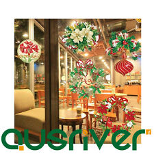 Xmas Sale Christmas Window Glittering Powder Sticker Wall Paper Decal Decoration