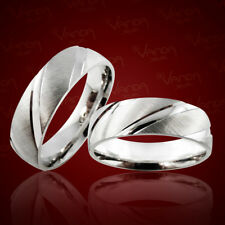 2 Trauringe 925 Silber Gravur+Etui Eheringe Verlobungsringe Partnerringe pr36