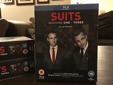 Suits Seasons 1-3 All 44 Episodes On Blu-Ray- Brand New!- Ships from USA