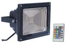 Colour Changing LED Floodlight with remote control for garden ornament statue