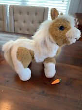 """FurReal Friends Butterscotch My Show Pony 16"""" Interactive Horse Hasbro W Carrot"""