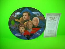 Star Trek 30 Years Collectors Plate Hamilton Numbered Captains Tribute COA Kirk