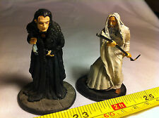 Saruman Grima Wormtongue Lord of the Rings LOTR Metal Figures Collectable Bundle