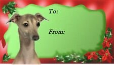 Italian Greyhound Christmas Labels by Starprint