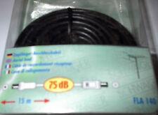 Antennenkabel Anschlusskabel 15 m schwarz FLA140