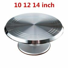 Cake Baking Stand Tools 14inch Mounted Cream Rotating Stands Decorating Table