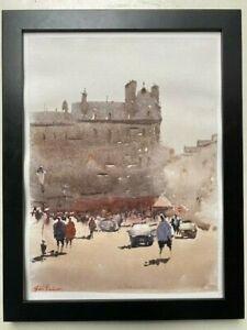 "Watercolor Painting France Original ""PARIS"" 9x12 by John Harrison"
