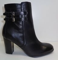 Marc Fisher Size 9.5 M KATTIE Black Leather Ankle Boots New Womens Shoes