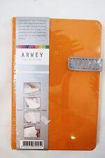 "Arwey ""Laur"" 4.25"" X 6.5"" Hardcover Blank 208 Page Notebook, Journal - Orange"