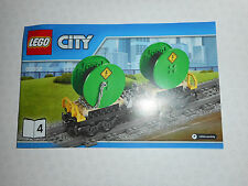 Lego City Cable Cargo Wagon for set 60052 new to add to a Lego railway layout