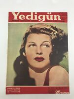 YEDIGUN #690 - Turkish Magazine - 1940s - RITA HAYWORTH COVER - Janis Paige