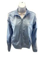 adidas Women's Blue/White Long Sleeve Full Zip Track Jacket Sz S