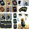 Various Black Costumes Dog Cat Vest T-Shirt Coat Pet Clothes Summer Apparel