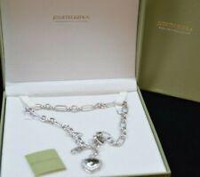 "Judith Ripka Sterling Silver Green Heart Cubic Zirconia Necklace 18"""