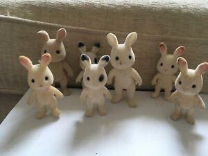 SYLVANIAN FAMILIES Rabbits various 7 FIGURES