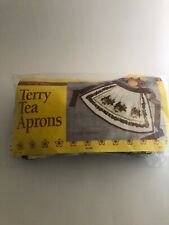 Vintage Terry Cloth Aprons 2 New In Package Blue Berries