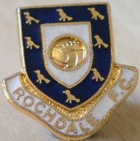ROCHDALE Vintage club crest badge Maker COFFER LONDON Brooch pin 22mm x 23mm