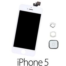 IPHONE 5 LCD SCHERMO DISPLAY RETINA TOUCH SCREEN VETRO FRAME BIANCO +TASTO HOME