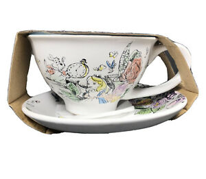 Disney Alice In Wonderland 12oz (354ml) Tea Cup & Saucer 2 Piece Set New NIP