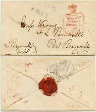 More details for canada 1859 official free govt.. ingersoll port burwell signed leonidas + seal