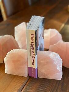 HUGE Heavy Giant High Quality Rose Quartz Pink Crystal Quartz Bookends