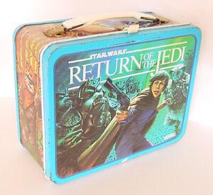 1983 THERMOS STAR WARS RETURN OF THE JEDI LUNCH BOX LUKE JABBA THE HUTT LANDO