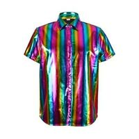 Men's Holographic Shirt - RAINBOW - Festival Fancy Dress