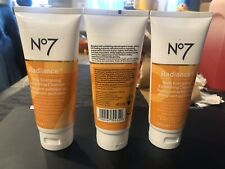 New listing No7 Radiance Daily Energising Exfoliating Cleanserx3 Brand New 3.3 fl oz