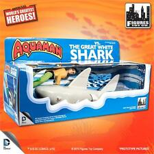 "Aquaman VS. The Great White Retro  mego 8"" Inch Action Figure playset ships free"