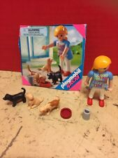 Playmobil Special Set Girl 3 Dogs Bowl And Food Toy Playset