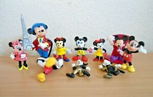 Bundle Of Vintage Disney Minnie Mouse & Mickey Mouse Figures Toppers Bullyland