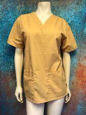 DURABLE FASHION SCRUB WEAR Unisex Size S Yellow Medical Nursing Uniforms Scrubs