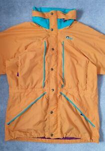 Vintage Original Lowe Alpine Jacket - Size L Bright Colours Orange Retro
