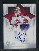 2019-20 Upper Deck Ultimate Collection 2018 Update Auto #50 Carey Price 06/10