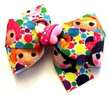 Lalaloopsy Inspired Girl's Hair Bow with Butterfly Resin Lalaloopsy Barrette