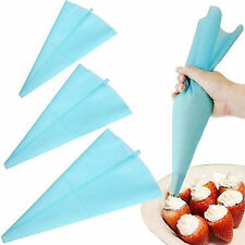 3 pcs Silicone Reusable Icing Piping Cream Pastry Bag Cake Decorating Tool