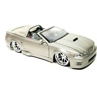 Jada Toys 2002 Ford Mustang Convertible Grey 1:24 #50810-9 Die-Cast Dub City