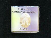 Australia: 2001 $1 Centenary of Federation 1901-2001 Uncirculated in folder