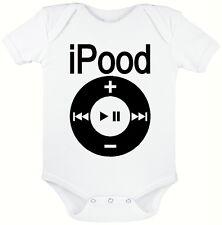 Ipood Blanco bebé crezca, novedad Traje de bebé, tamaños de 0 a 12 meses