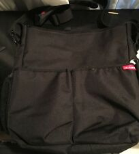 Skip Hop Duo Diaper Bag Essentials Messenger Black Baby Manly Daddy