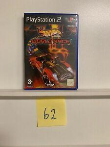Hot Wheels World Race PS2 PlayStation 2 Game + Manual PAL Oz62