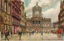Town Hall Castle Street Liverpool unused Transparency old pc Hartmann Series 3