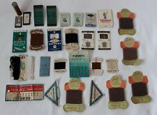 JOB LOT OF VINTAGE SEWING NEEDLES, THREADS, NEEDLE CASE ETC.