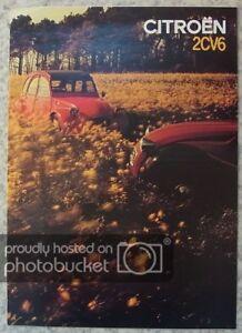 CITROEN 2CV6 Car Sales Brochure 1982