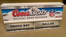 Coors Light Nfl Sign Nos 2009 Team Matchups Beer Football Sports Bar