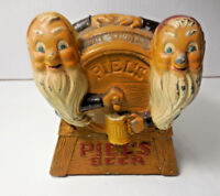 Vintage Piels Advertising Gnome Elf Beer Caddy Metal Swizzle Stick Holder
